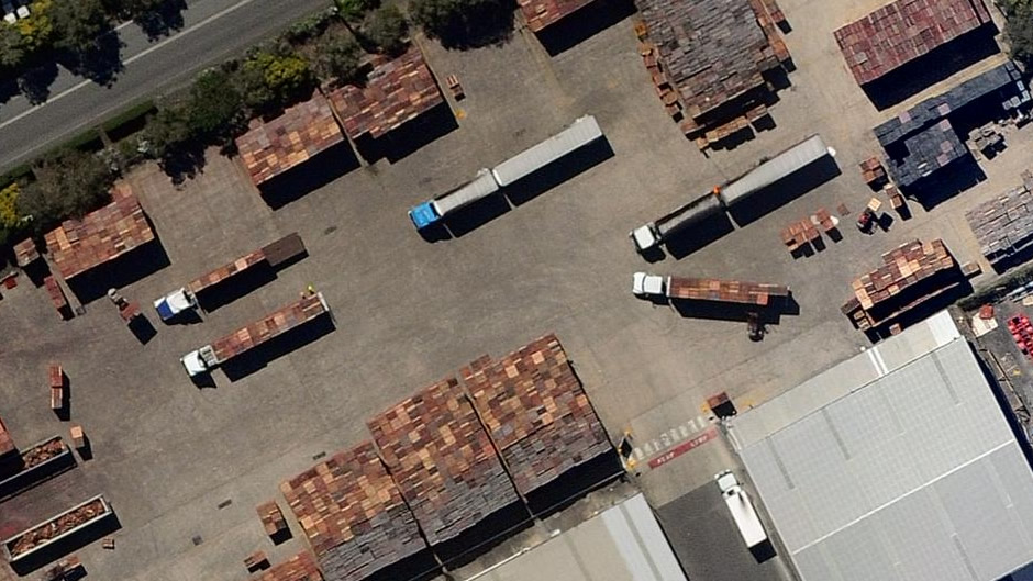 Floating pallets in Rocklea industrial estate (before flooding)