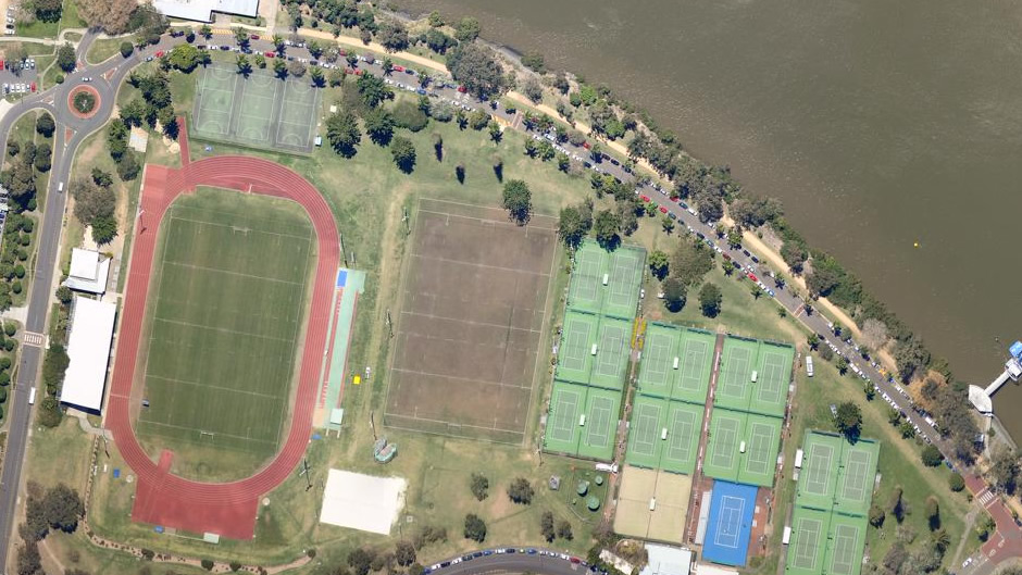 University of Queensland running track and tennis courts, St Lucia (before flooding)